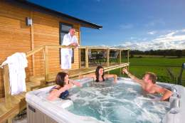 Beauly and Dornoch Lodges are equipped with hot tubs - Click for larger version